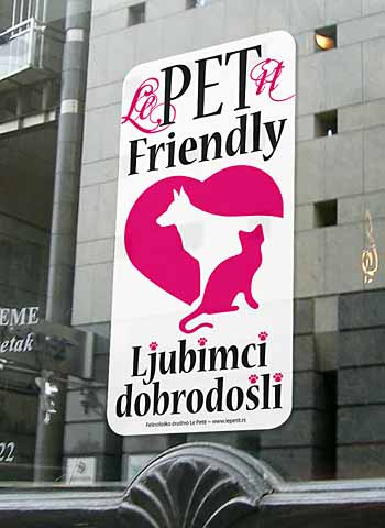 Pet Friendly nalepnica