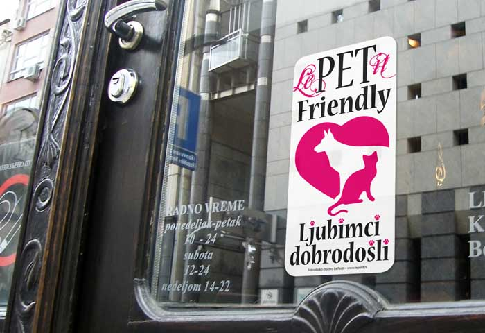 Pet-Friendly Belgrade - Pets Welcome sign